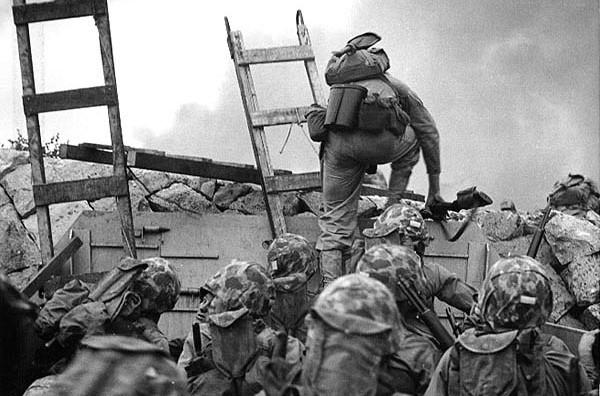 Amerikaanse mariniers stormen aan land in de slag van Incheon